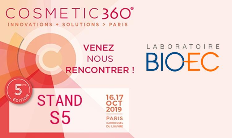 Laboratoire BIO-EC participe au salon Cosmetic 360° 2019